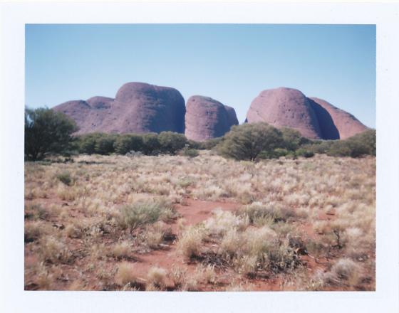 Polaroid of Kata Tjuta: Northern Territory, Australia