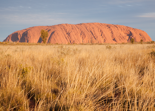 Uluru at sunset: Northern Territory, Australia