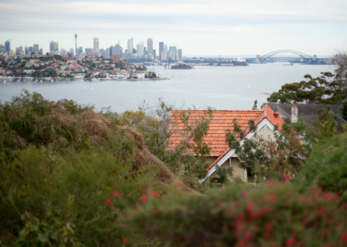 View from the top of Heartbreak Hill: Sydney, Australia