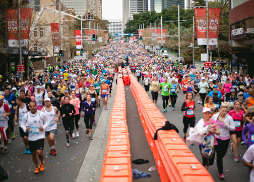 Runners at the 2014 City 2 Surf in Sydney, Australia