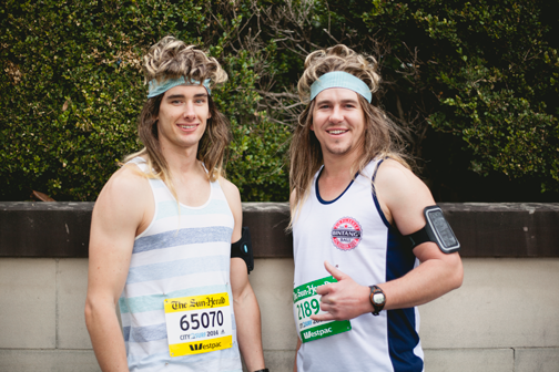 Runners in costume at the City 2 Surf: Sydney, Australia