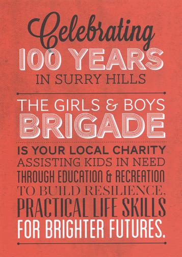 Wonder 102 Boys and Girls Brigade Flyer: Sydney, Australia