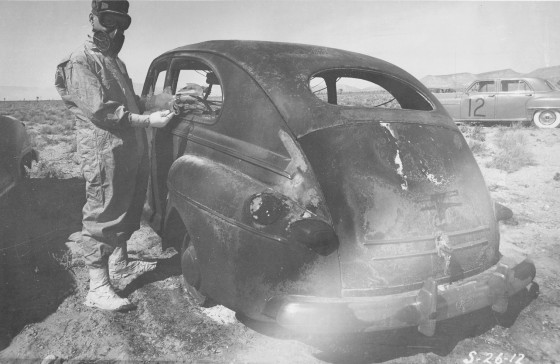 Damaged Vehicles - Photo courtesy of National Nuclear Security Administration / Nevada Site Office