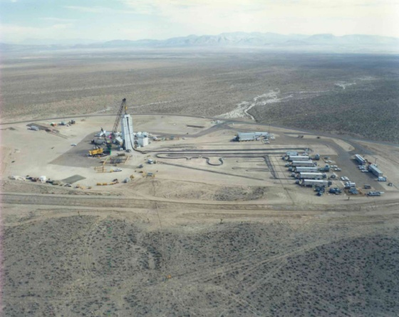 Preparations underway for an underground nuclear test - Photo courtesy of National Nuclear Security Administration / Nevada Site Office