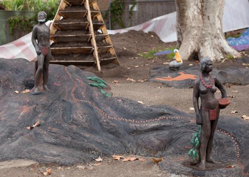 Marrickville Market statue garden: Sydney, Australia