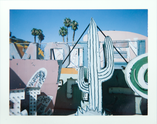 Polaroid of the Neon Museum Boneyard: Las Vegas