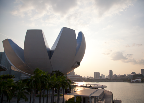 View of ArtScience Museum and Marina Bay: Singapore