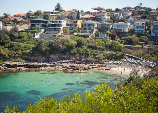 Gordons Bay- a quiet stop on the Bondi to Coogee Walk: Sydney, Australia