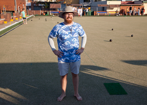 Barret at the Marrickville Lawn Bowling Club: Sydney, Australia