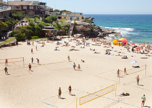 Beach volleyball courts at Tamarama: Sydney, Australia