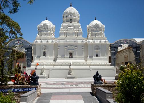 Courtyard of Sri Venkateswara Temple: Helensburgh, Australia