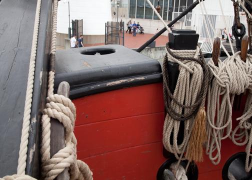 Crew's toilet aboard the HMB Endeavour: Sydney, Australia