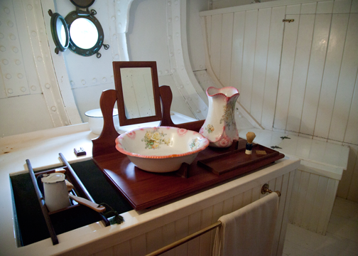 The Captain's bathroom on the James Craig: Sydney, Australia