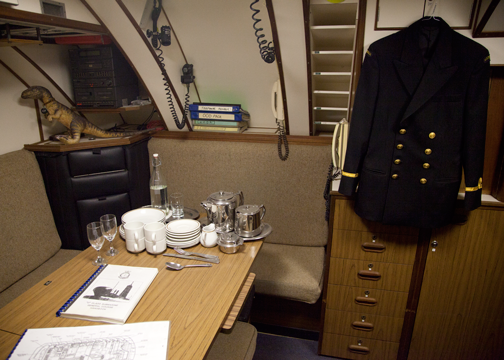 Officer's quarters on the HMAS Onslow: Sydney, Australia