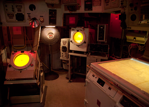 Operation room of the HMAS Vampire: Australian National Maritime Museum, Sydney