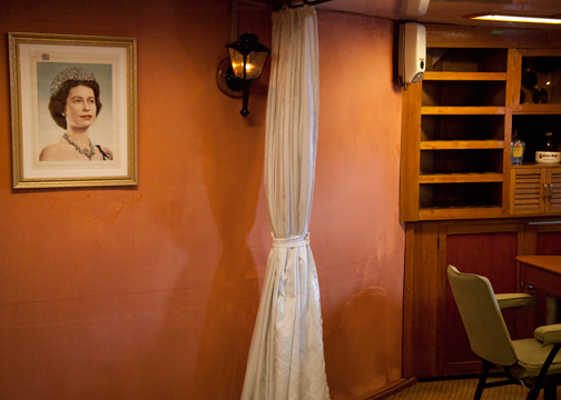 Officer's dining room aboard the HMAS Vampire: Sydney, Australia