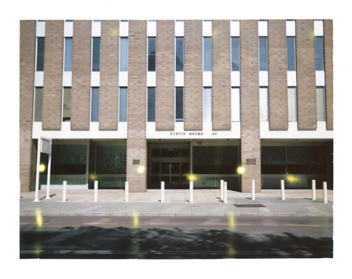 Polaroid of Perth architecture: Curtin House
