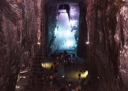 Inside the underground Salt Cathedral: Zipaquira, Colombia