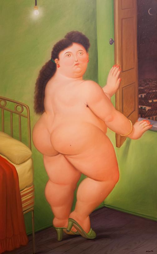 Mujer delante de una ventana, 1990: Botero Museum, Bogotá