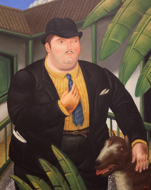 Hombre con Perro: Botero Museum, Bogotá