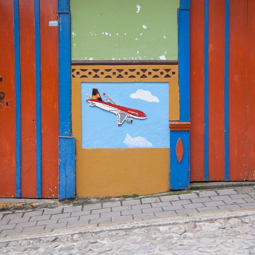 Detail of an Avianca Airlines zocalo: Guatape, Colombia