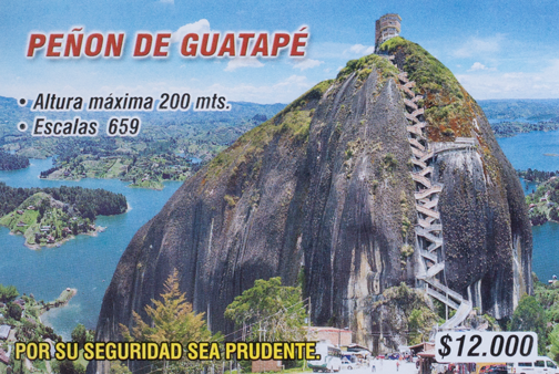 Ticket stub for Penon de Guatape: Guatape, Colombia