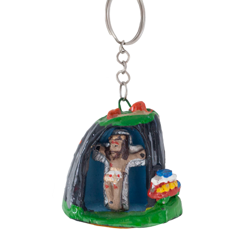 Religious souvenir keychain from El Penol: Guatape, Colombia