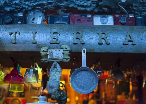 The bar at Mi Tierra: Bogotá, Colombia