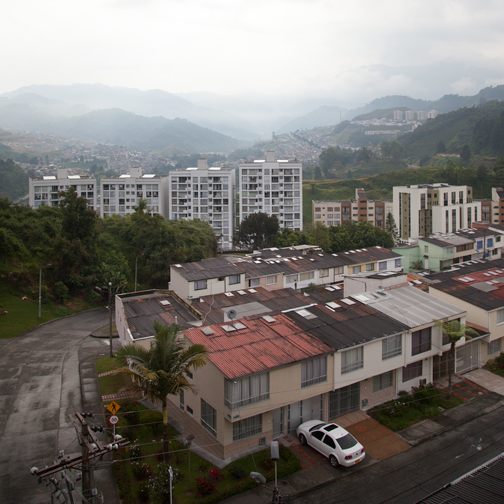 View from the apartment in Manizales, Colombia