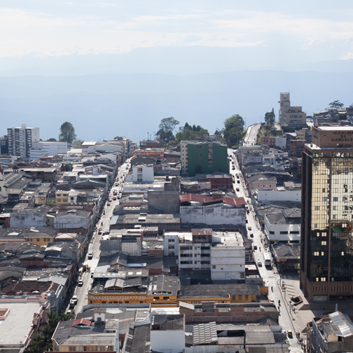 View of Chipre from the top of the Manizales Cathedral: Colombia