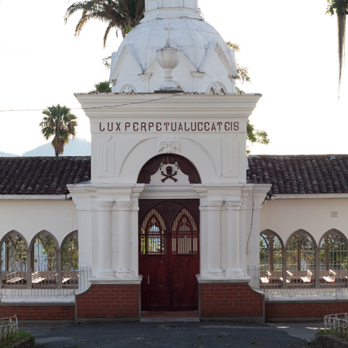Grand entrance to the cemetery in Salamina, Colombia