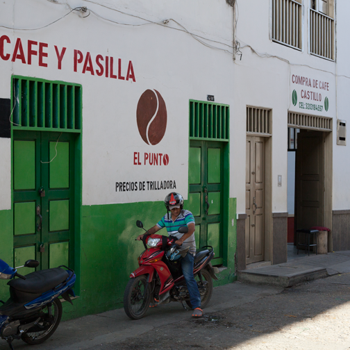 Coffee purchasing shop in the cafetera: Salaminas, Colombia