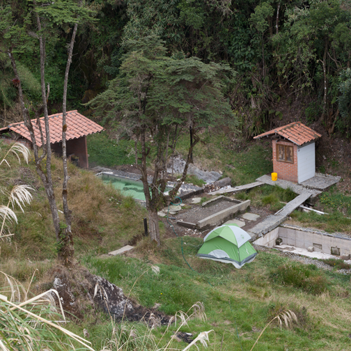 The small hot spring on the way to Parque los Nevados: Manizales, Colombia