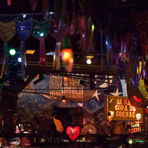 Ceiling decorations at Andres Carne de Res Chia: Bogota, Colombia