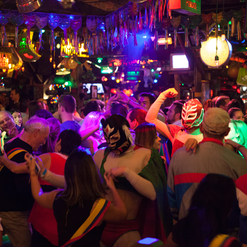 Lucha Libre on the dance floor of Andres Carne de Res Chia: Bogota, Colombia