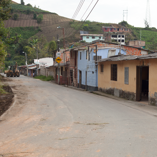 Rural road outside of VIlla Maria: Manizales, Colombia