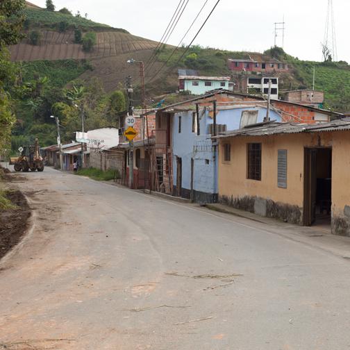 Rural road outside of VIlla Maria: Manizales, Colombia