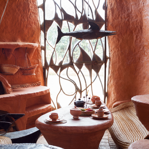 Living room of the Terracotta House: Villa de Leyva, Colombia