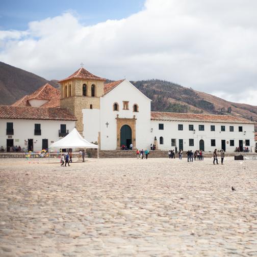 Villa de Leyva cobblestone plaza: Colombia