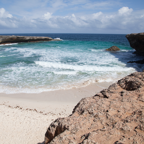 View of the Boca Prins Beach: Arikok National Park, Aruba