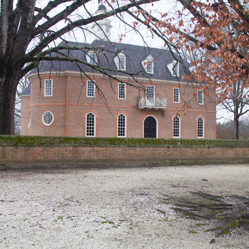 The reconstructed capitol in Colonial Williamsburg, Virginia
