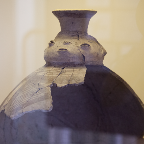 Anthropomorphic ceramic jar from the National Archaeological Museum Aruba - Oranjestad