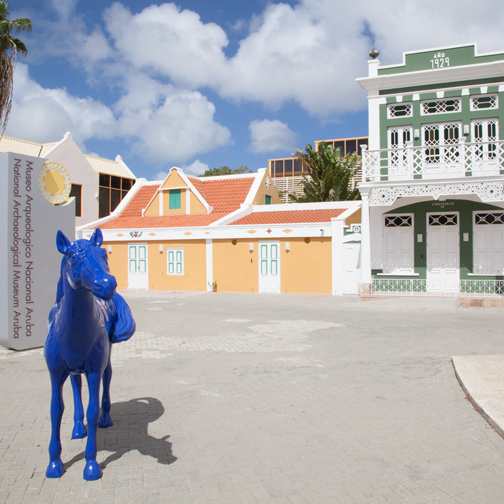 Exterior view of the National Archaeological Museum Aruba - Oranjestad