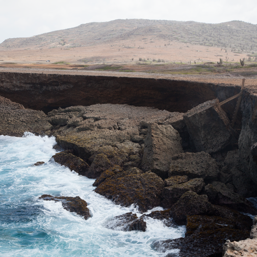 Collapsed Natural Bridge: Aruba