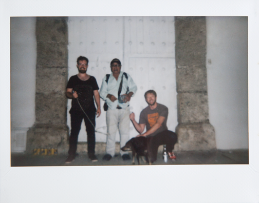 Polaroid of an electric shock vendor: Cartagena, Colombia