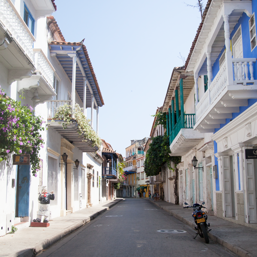 The colonial streets of El Centro: Cartagena, Colombia