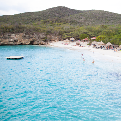 The blue waters of Grote Knip cove beach: Curacao