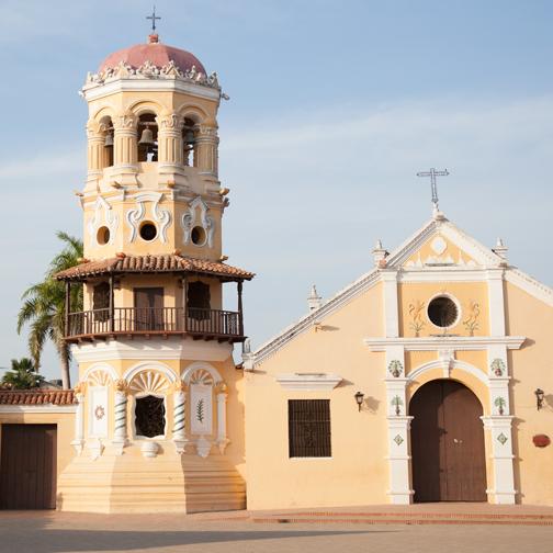 Iglesia de Santa Barbara in Mompos: Mompox, Colombia