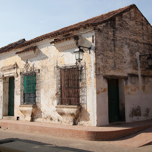 Weathered Colonial architecture in Mompos: Mompox, Colombia