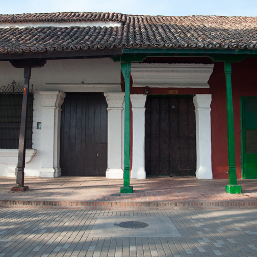 Patio of Colonial houses in Mompos: Mompox, Colombia